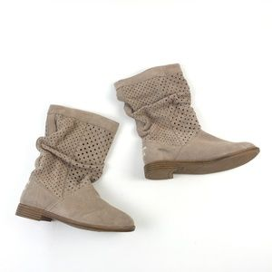 Toms Perforated Slouch Boots DR00359 5.5